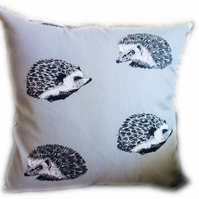 Cushion, Grey Hedgehog design Throw Pillow