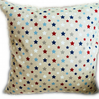Cushion, Red, White & Blue Stars design Throw Pillow