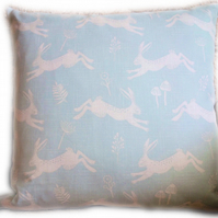 Cushion, Cream Hare design Throw Pillow