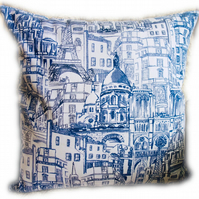 Cushion, Paris design Throw Pillow