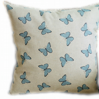 Cushion, Blue Butterfly design Throw Pillow