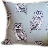 Cushion, Grey Owl design throw Pillow