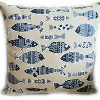 Cushion, Scandinavian Fish design Throw Pillow