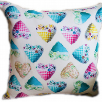 Cushion, Patterned Heart design Throw Pillow
