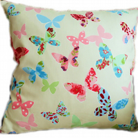 Cushion, Coloured Butterfly design Throw Pillow