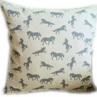 Cushion, Grey Unicorn design Throw Pillow