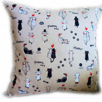 Cushion, Cats in Love design Throw Pillow