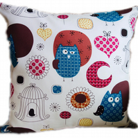 Cushion, Cute Blue Owl design Throw Pillow