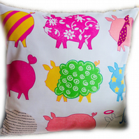Cushion, Bright Pig design Throw Pillow