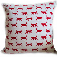Cushion, Red Cat design Throw Pillow
