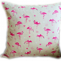 Cushion,  Pink Flamingo design Throw Pillow