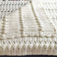 White babies shawl blanket lightweight in white double knitting wool