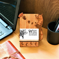 Business Card Holder, Red Squirrel, Business Card Stand, Nature And Squirrel