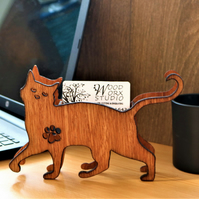 Business Card Holder, Personalised, Cat Business Card Holder, Cat Lovers, Vets