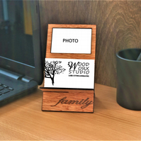 Business Card Holder, Photo Insert, Family Picture, Moments, Desktop Organizer,