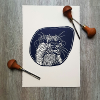Otter Limited Edition Linoprint