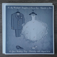 "Handmade Personalised 6"" Square Personalised Wedding Congratulations Card (c115)"