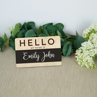 Hello, my name is.. Baby Name Announcement, newborn name announcement card