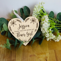 Personalised Flower girl thank you gift, wedding party gift, bridal party thank