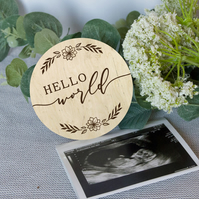Hello world baby announcement, newborn baby announcement, baby keepsake, newborn