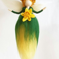 Felt fairy, needle felt fairy, fairy gifts, wool dolls, spring decorations,