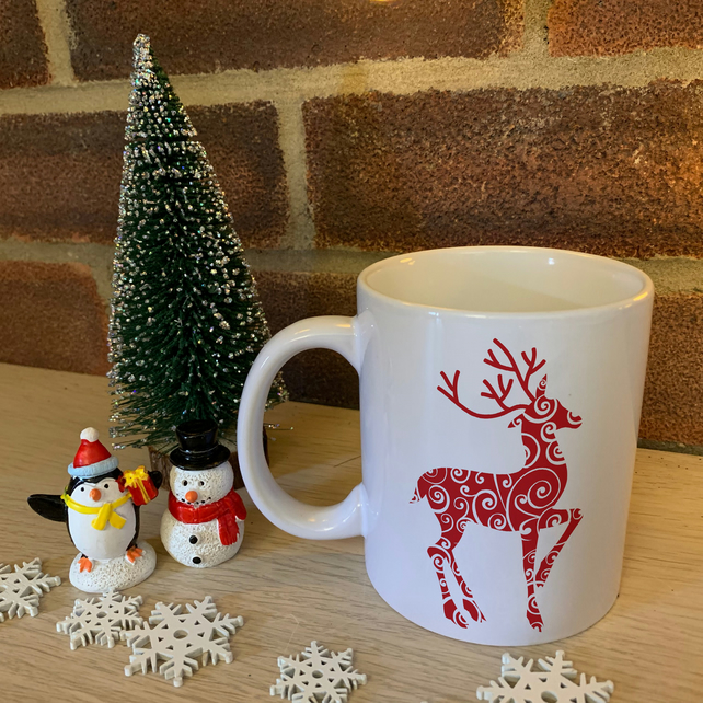 Red Reindeer - Christmas Mug