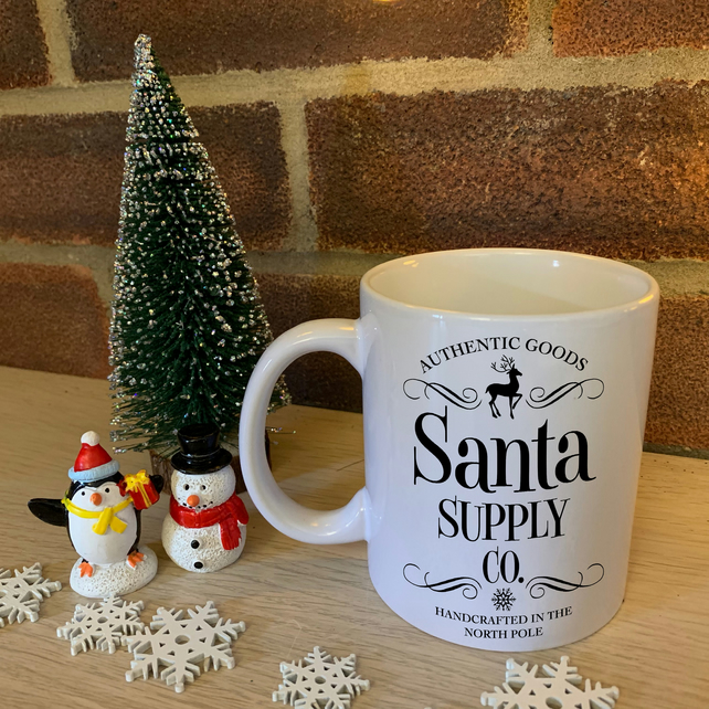 Authentic Goods, Santa Supply Co. Handcrafted in the North Pole - Christmas Mug
