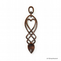 Together in a Sea of Love Welsh Love Spoon - Angel Woodcraft (No. 130)