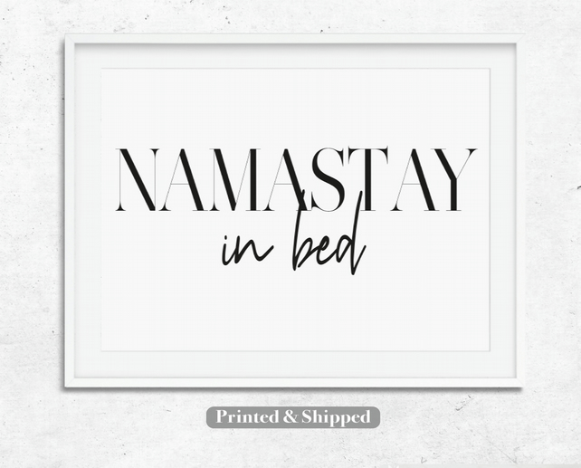 Namastay In Bed Wall Art Quotes Wall Deco Folksy