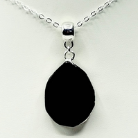 Electroplated Black Onyx Necklace