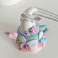 Ooak, Opening Polymer Clay Teapot, Handmade Ring Holder, Miniature Fairy House