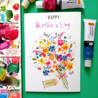 Happy Mother's Day A6 Floral Bouquet Card