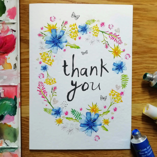 Thank You A6 Greeting Card