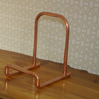 Copper Vinyl 7 12 LP Record Stand Industrial Storage Holder Pipe FREE POSTAGE