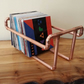 Copper Pipe Vinyl 7 Single Record Stand Industrial Storage Holder FREE POSTAGE