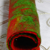 Handmade Felt Piece Christmas Crafts Red Green Gold