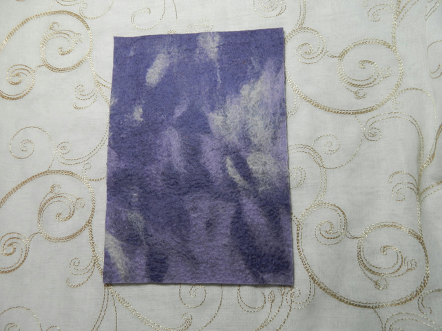 Handmade Felt Piece for Crafts Purple and Blue