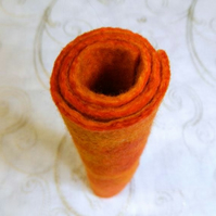 Orange Handmade Felt Piece for Autumn Halloween Crafts
