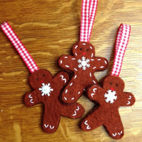 Gingerbread Man Tree Decoration Christmas