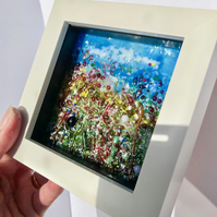 Provence Fused Glass Wall Art, gift, Cornish, Fused Glass Cornwall, Irish,