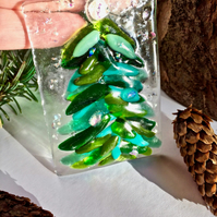 Fused Glass Christmas Decoration, Christmas Tree Decoration, Gift
