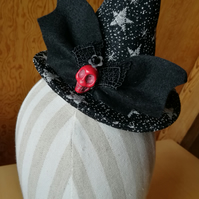 Black Starry Mini Witches Hat