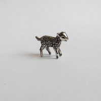 Lamb (sheep), tiny sterling silver figurine