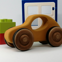 Wooden Toy Car. Handmade wooden car toy gift for any baby, toddler or child