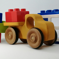 Wooden Toy Pickup Truck. Hand Made Wooden Toy Truck.