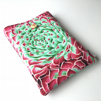 Kaffe Fassett collective succulent fabric book sleeve, paperback protector