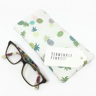 Pineapples Glasses Case, sunglasses pouch, Pineapple glasses pouch, eyeglasses c