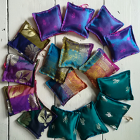 3 sari fabric lavender bags, Scented sachets,