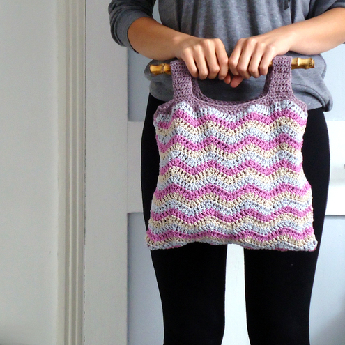 Bamboo Cotton Crochet Bag