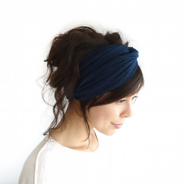 Turban Headband Midnight Blue
